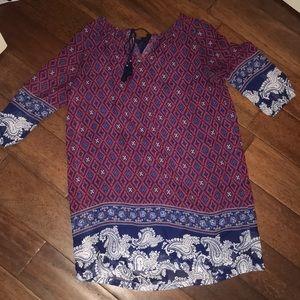 long sleeved bohemian top